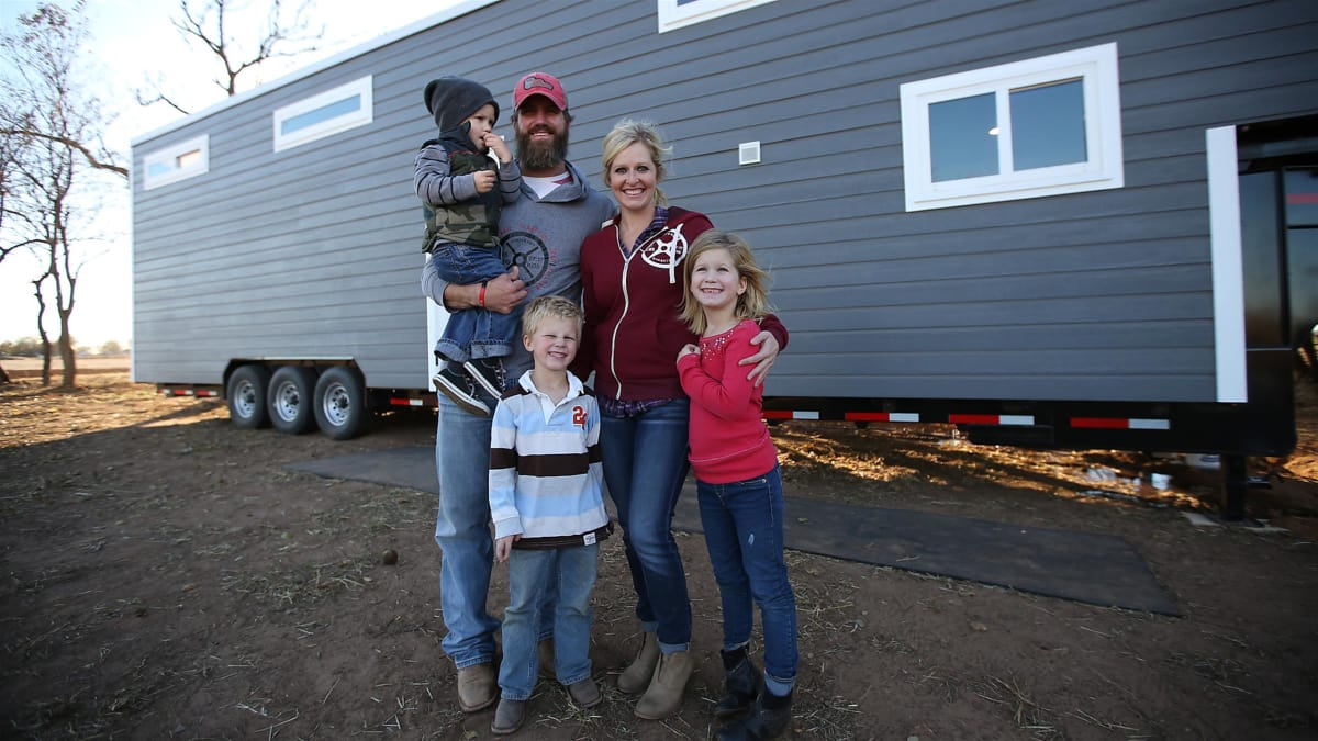 A family gets creative to fit comfortably into a tiny home in Oklahoma.