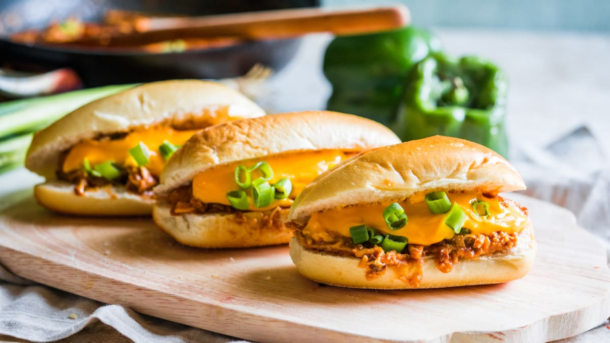 Enjoy the flavors of buffalo chicken in cheesesteak form with this recipe!