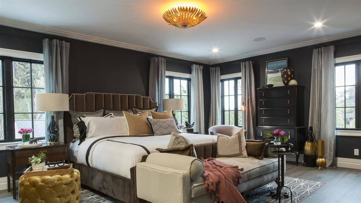 The brothers create a romantic master suite with old Hollywood glamour.