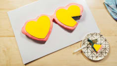 Giant Heart Sunglasses Cake