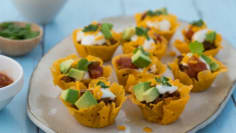 Cheesy Shell Taco Bites